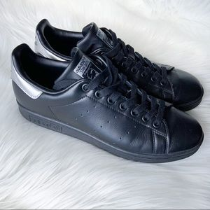 ADIDAS Stan Smith Black Leather Sneakers |…